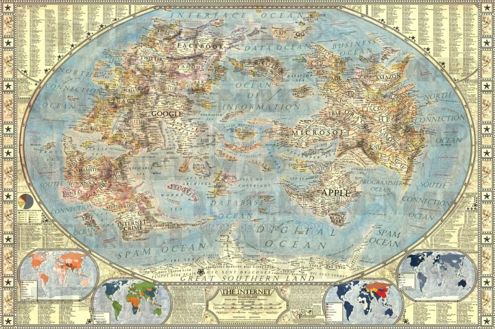 Carte des Internet 1.0