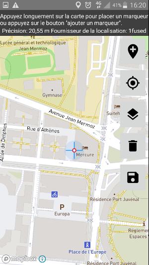 localisation assistée par le GPS du téléphone