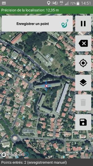 ODK Geotrace/Geoshape : enregistrement manuel des points GPS
