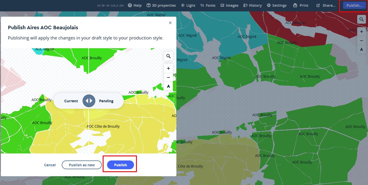 Mapbox publier