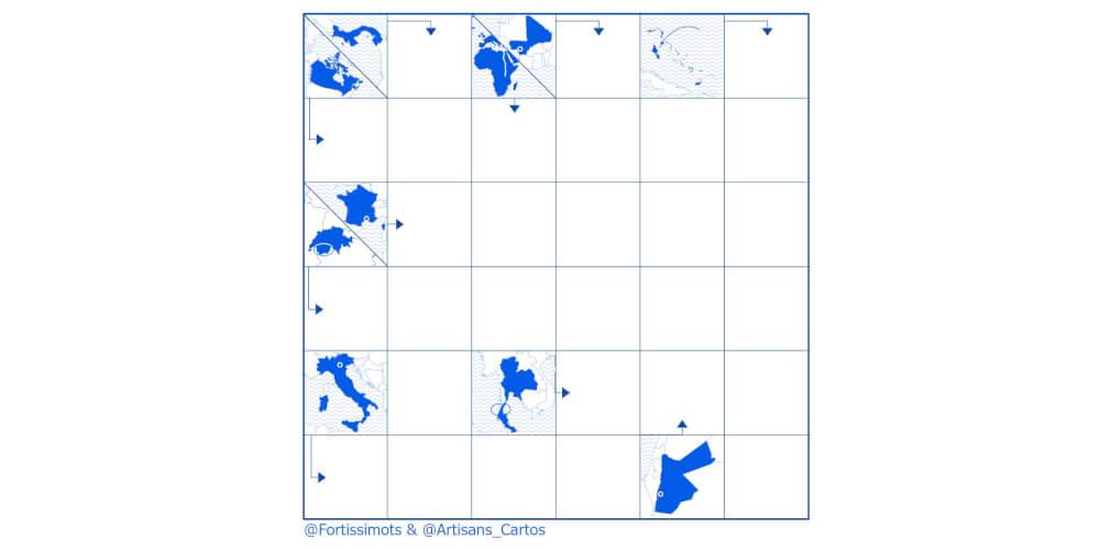 Mots-fléchés cartographiques