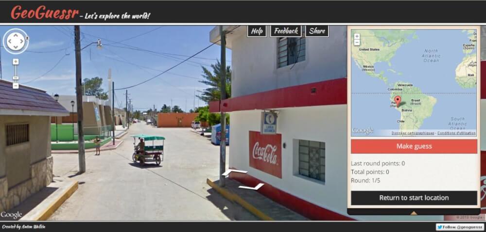 capture d'écran de GeoGuessr