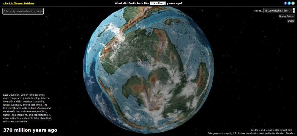 Ancien Earth Globe