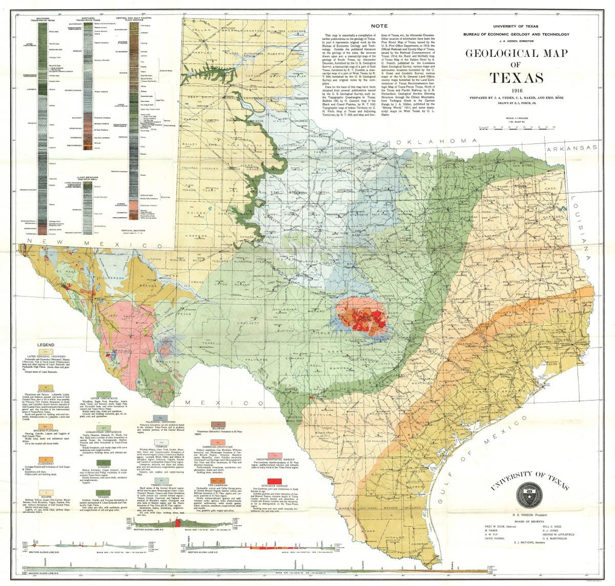 Carte géologique originale