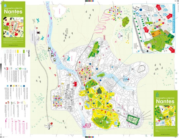 Carte subjective de Nantes