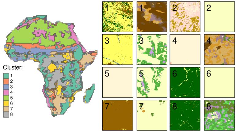 clusteriser l'Afrique sur la base de plusieurs couches de données