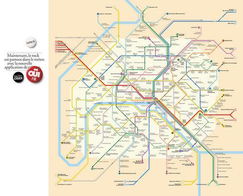 OUIFM - le Rock est partout dans le métro