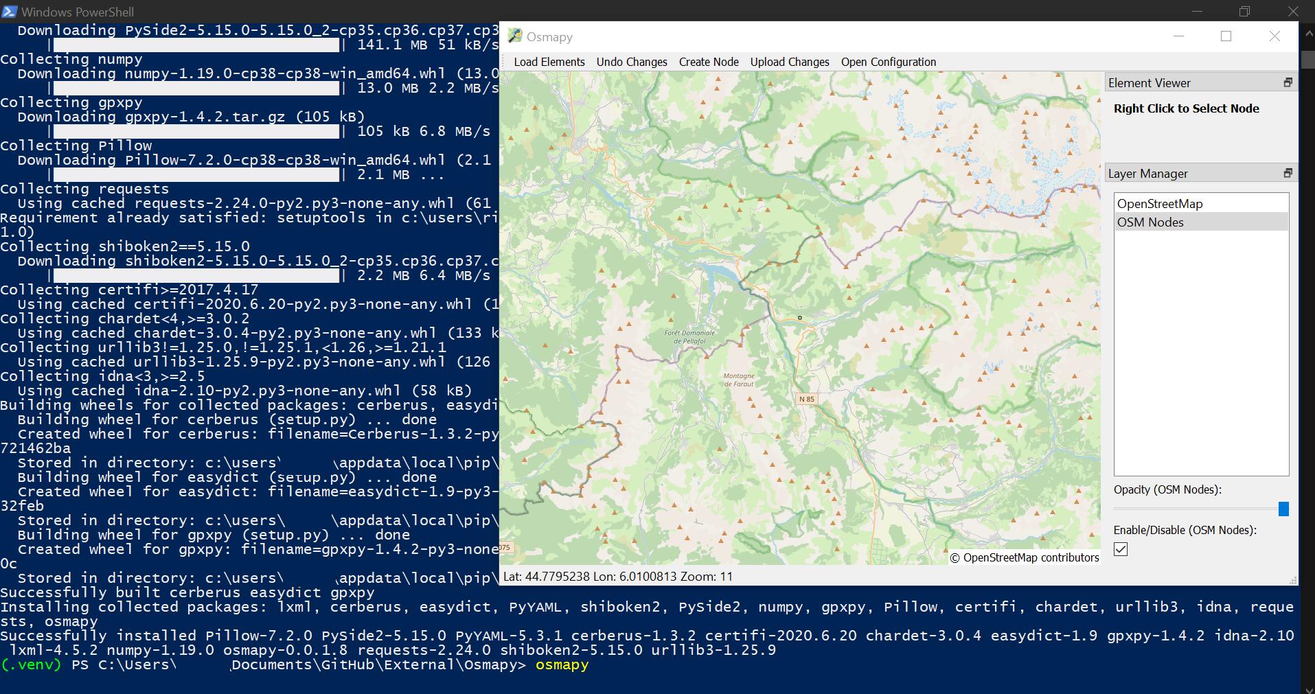 Osmapy, éditeur OSM en Python