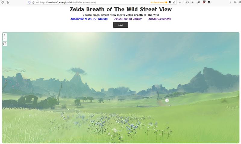 Capture d'un panorama de Zelda Breath of the Wild Street View