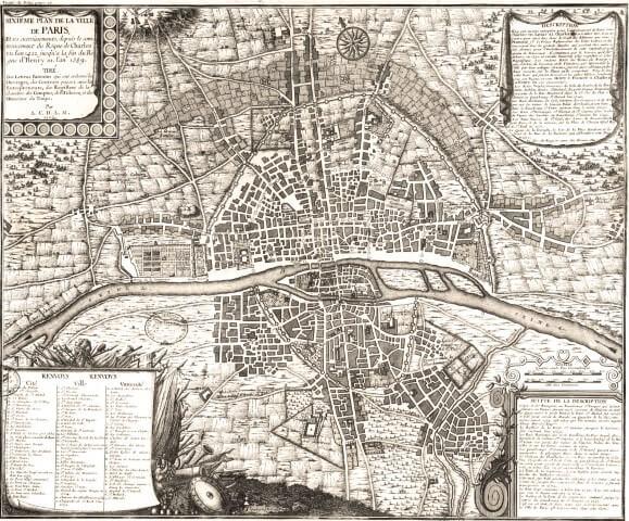 Old Maps of Paris 1422