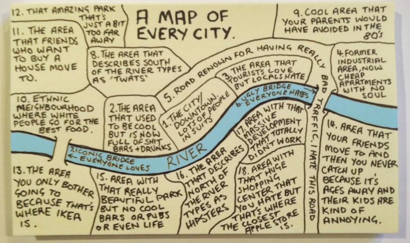 carte des zones communes à toutes les villes