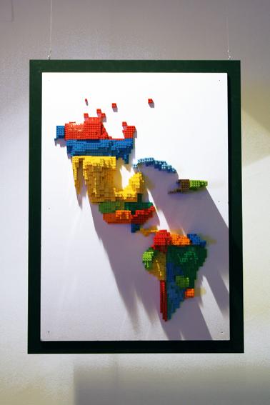 Cartogramme en Lego