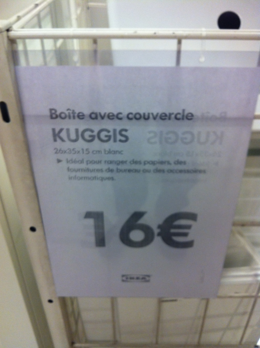 Kuggis - du SIG à Ikea