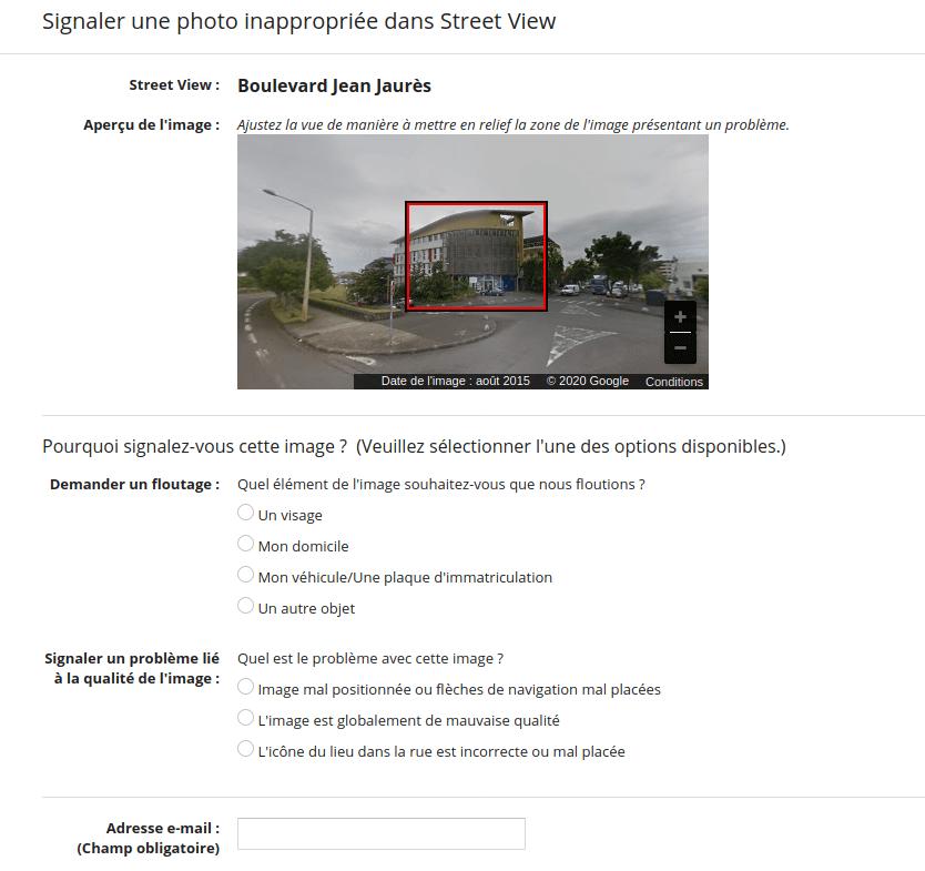 Google Street View Report