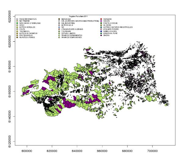carte du registre parcellaire graphique 2011