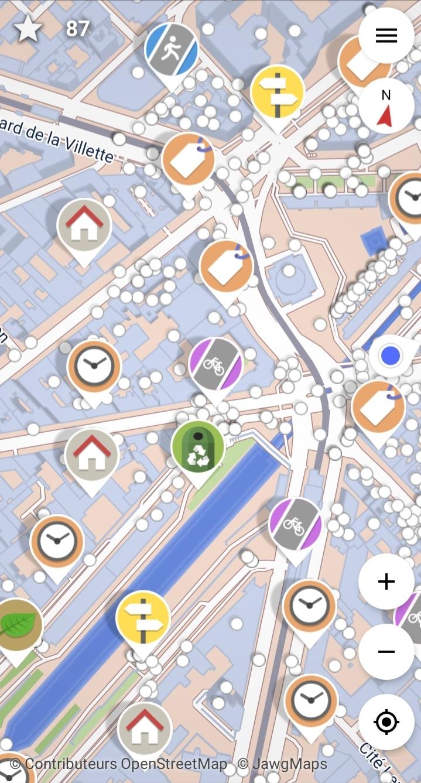 La carte de Street Complete