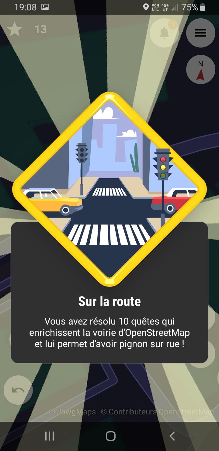 Street Complete : quête route