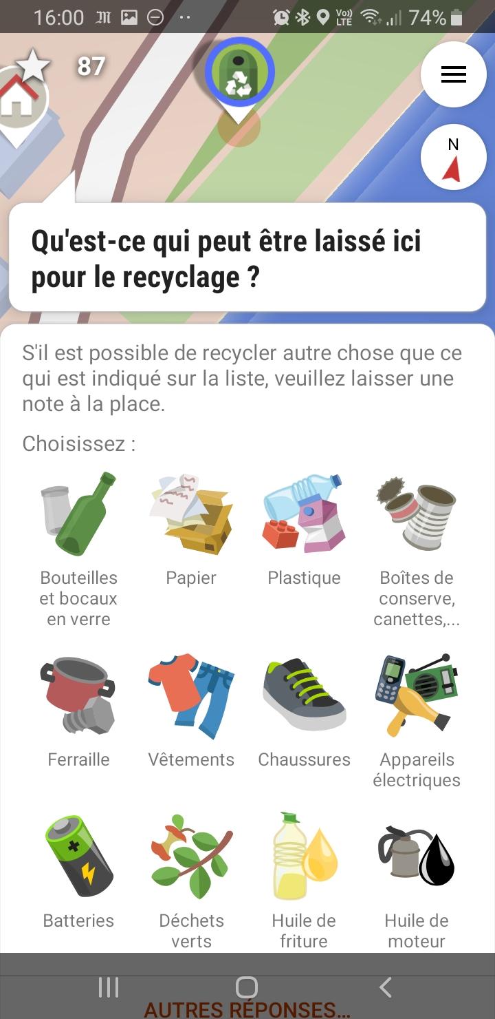 Quête : bornes de recyclage