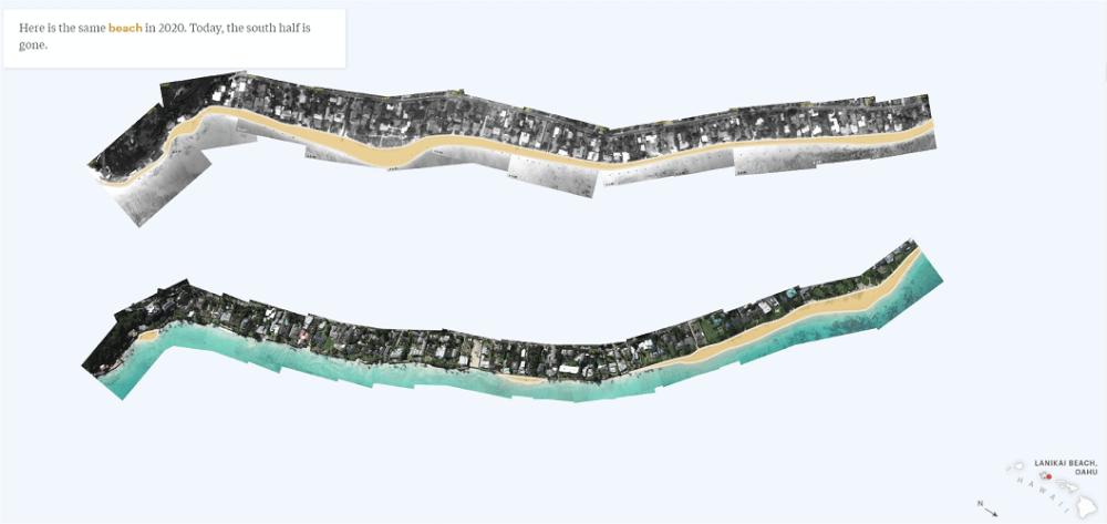 plages hawaii erosion