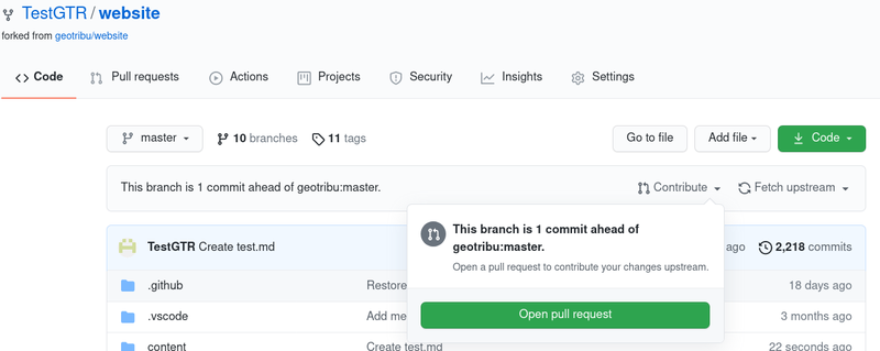 GitHub submit pull request from fork