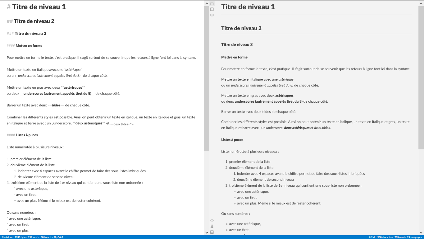 markdown exemple