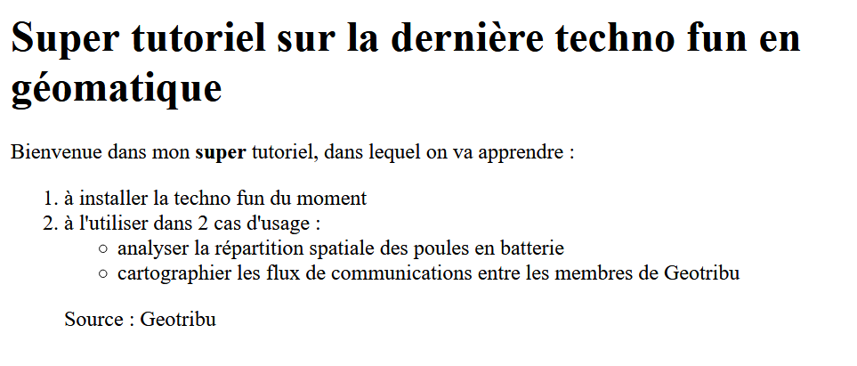 Markdown rapide exemple