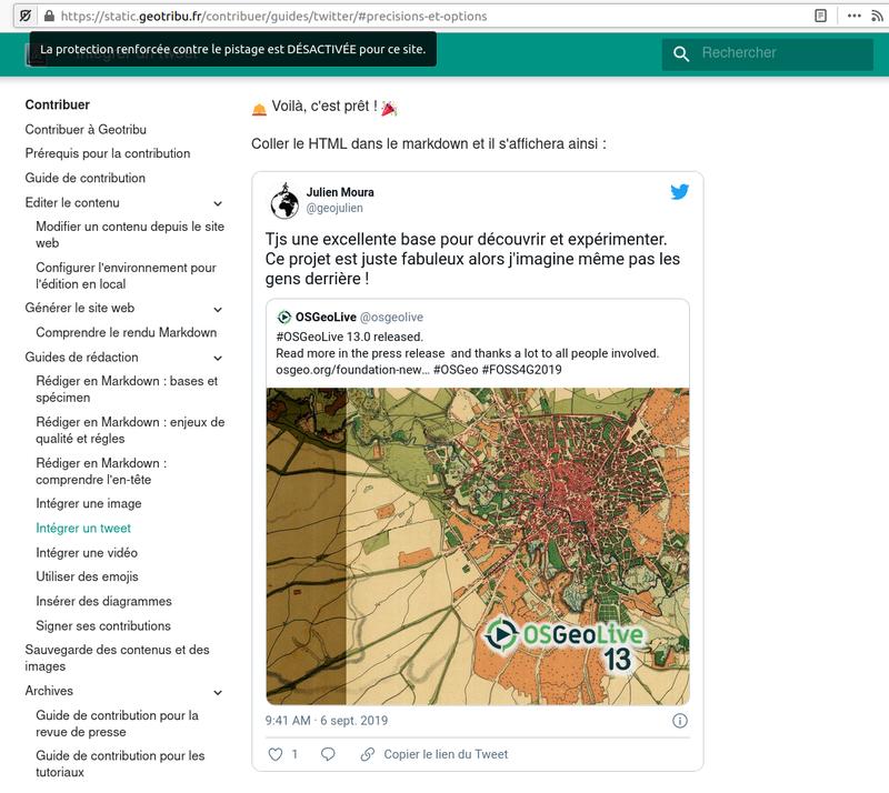 Tweet - Tracking enabled