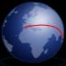 icône globe itineraire
