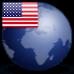icône globe usa