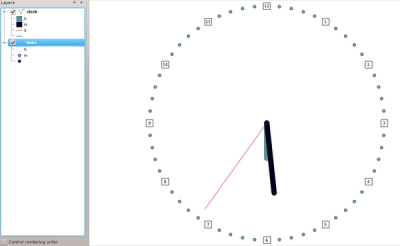 A clock with postgis