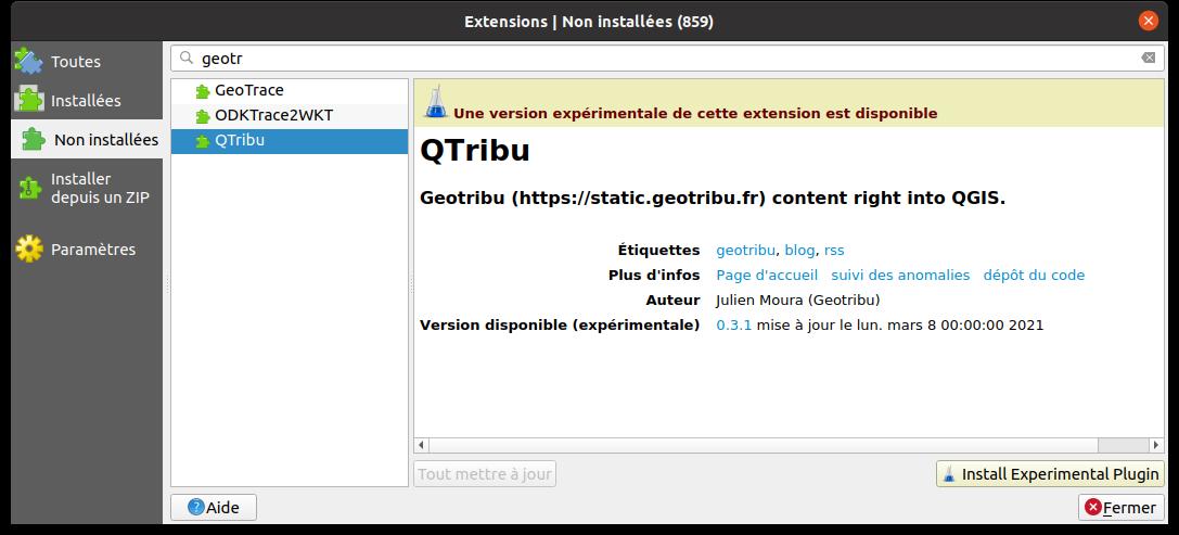 QTribu - Non installée