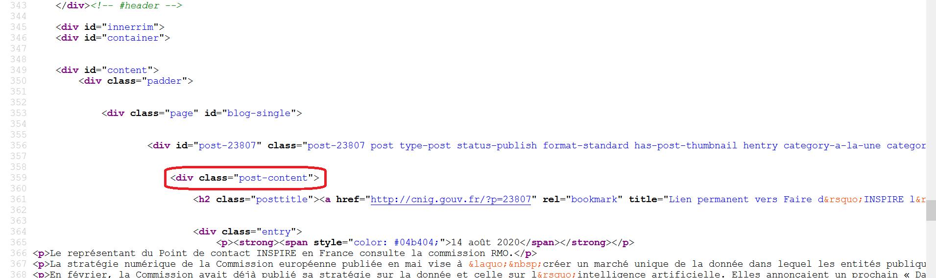 Source HTML CNIG